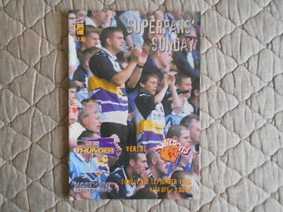 Gateshead Thunder V Wakefield Wildcats Super League Match Programme 1999