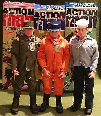 vintage action man 40th anniversary 1st issue soldier sailor pilot all 3 boxed