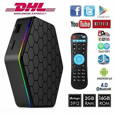 T95Z Android 6.0 Bluetooth PLUS Wifi Amlogic S912 Octa Core 2G+16G Player TV Box