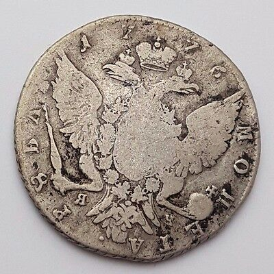 1776 - Russia 1 Rouble - Ekaterina II - Catherine the Great - СПБ - Silver Coin
