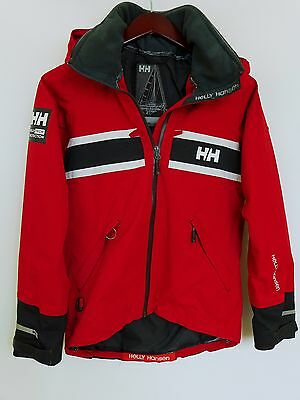 SS217 Women Helly Hansen Red Sailing Yachting Waterproof Jacket Size S / UK12