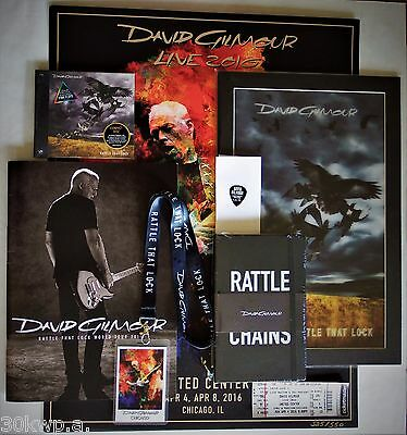 David Gilmour United Center Chicago Lithograph VIP SET CD + PICK Program Ticket