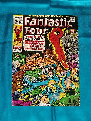 FANTASTIC FOUR, # 100, July 1970, Anniversary Issue! LEE / KIRBY, FINE PLUS