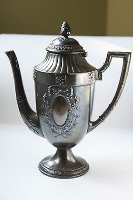 Antique Teapot silver plated alpaca 19 th century - marked
