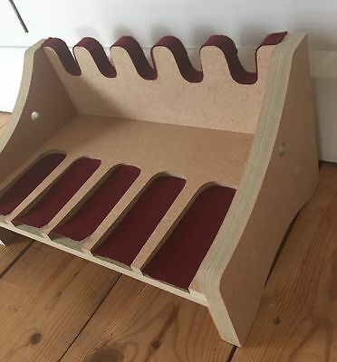 C15 Hand gun rack for 5 guns With Chain Holes & Wine Baize Fits most hand guns