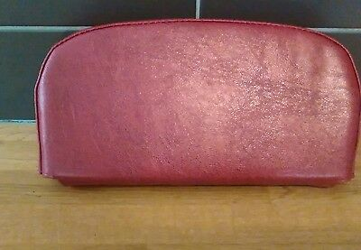 Red leather grain effect Back Rest Cover (Purse Style) Vespa/Lambretta