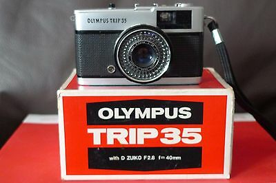 Olympus Trip 35 Camera In Original Box