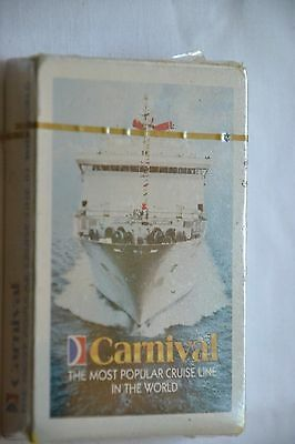 Vintage advertising playing cards Carnival Cruise Line  New unopened and sealed
