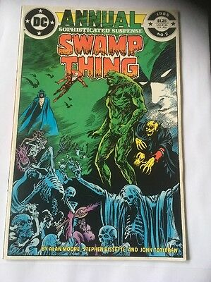 Swamp Thing Annual # 2 (Moore Scripts, Justice League Dark, Deadman, 1985)