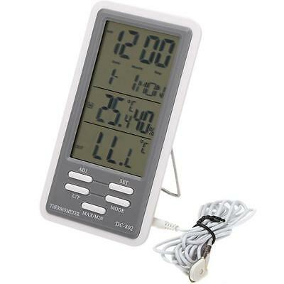 DC-802 LCD Digital Thermometer Hygrometer Temperature Humidity Meter Clock Indo