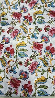SCALAMANDRE Fabric VENEZIA Blue and Gold Cotton SOLD BY THE 5 YARD Fabric