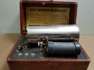 Antique Voltamp Battery No. 6 Majestic Gibson Co. Electric Therapy W/box