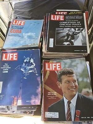 Lot of 160 Life Magazines 1960's