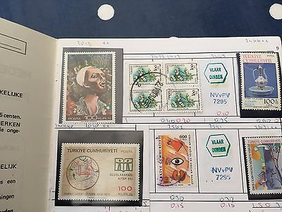 Club approval booklet with Turkey used and mint stamps