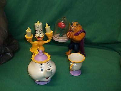 Disney Beauty And The Beast Figures Cake Toppers Toys Beast Tea Pot Chip Luminer