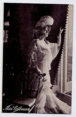 Miss Gillman - actress - vintage Yes or No Series Postcard