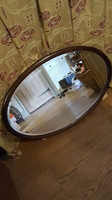 Oak victorian/edwardian mirror