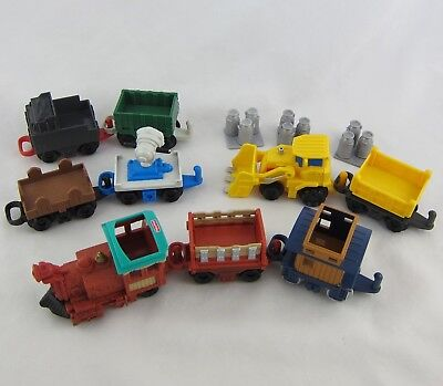 Fisher Price Geotrax Vehicle Lot 11 Pcs: Police Car, Sarch Light, Bulldozer, +++