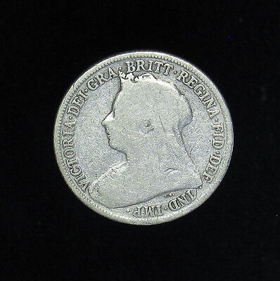 1900 Great Britain One Shilling silver coin