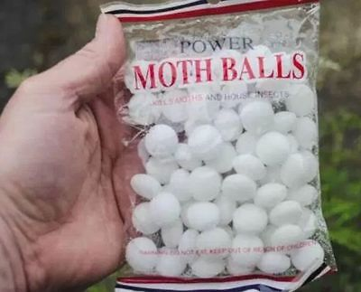 Mothballs protect clothes from insects