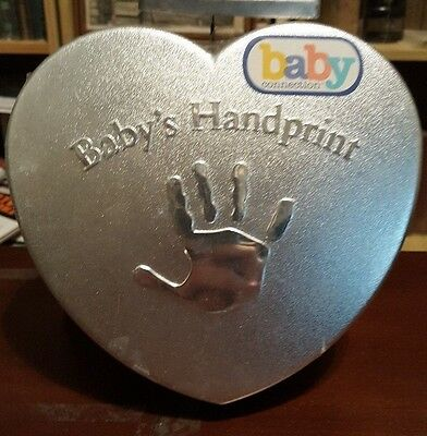 Baby's First Handprint Kit Baby Connection Mold Plaster Easel Colored Chalk NIP
