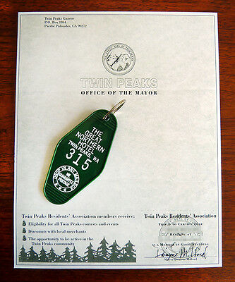 Twin Peaks Great Northern Key Fob AND Mayor's Office Stationary Bob, Murder