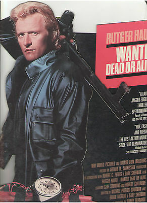 Rutger Hauer Wanted Dead Or Alive New World Video Store Counter Desk Standee