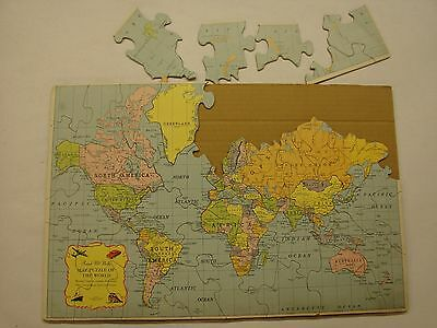 Vintage Rand McNally Puzzle Map of the World