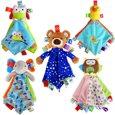 Infant Baby Soft Sleep Appease Towel Blanket Cute Doll Plush Toy Gift Calm Wipes
