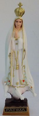 3 Statues Our Lady Fatima 3 Religious Figurines Virgin Mary Classic Paint - 4.3""