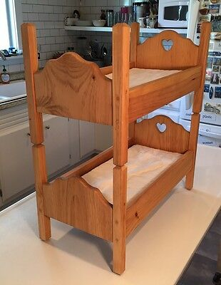 Vintage Wood Bunk Bed Baby Doll~Cat~Dog Bed  30""