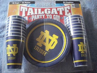 """Brand New Notre Dame """"Party To Go!"""" Tailgate Set"""