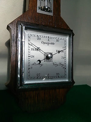 Vintage Barometer, Thermometer, made in England
