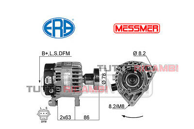 Alternatore ERA 14V 90A Ford Focus 1.8 TDCi - 1.8 Turbo DI / TDDi - Fino al 2004