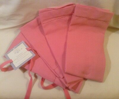 """4 Pink Dinner Napkins by Mahogany, Cotton, 19""""x19"""", NWT"""