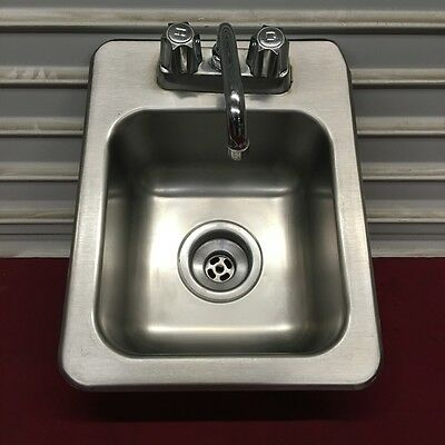 """13"""" Drop In Hand Wash Sink with Faucet Eagle/Metro #6463 Commercial NSF"""