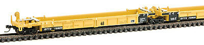 Walthers N Scale Thrall 5-Unit Articulated 48' Well Car Trailer-Train/DDTX 72805