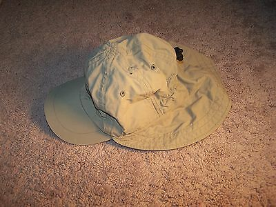 Columbia hat youth tan khaki 100% nylon washable Omni-Shade SZ O/S