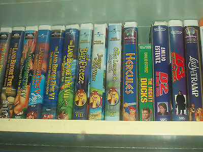 The Land Before Time Classic VHS Movies 1 to 10