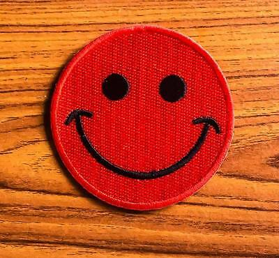 Red Smiley Face Embroidered Sew Iron on Patch Badge Patches Sewing Appliqus