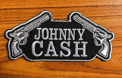 Johnny Cash Sew Iron On Patch Singer Songwriter Music Logo Embroidered