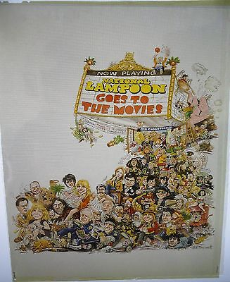 Vintage Movie Poster Art from National Lampoon Goes to the Movies ~ 8 x 10