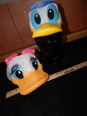 Vintage Disney World Donald & Daisy Duck Hat Cap Snap Back Child Size