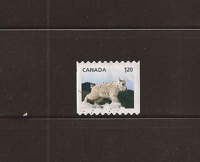 S14-04 Canada 2014 Baby Wildlife definitives-Moutain Goat Booklet used #2715
