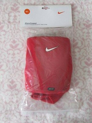 NIKE Athena Kneepad Fastpitch Kneepad with Dri-Fit - Size Unisex M/L - Red -NEW