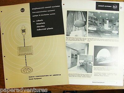 1958 RCA Engineered SOUND,TV SYSTEMS School Hospital Church Industry Vtg Catalog
