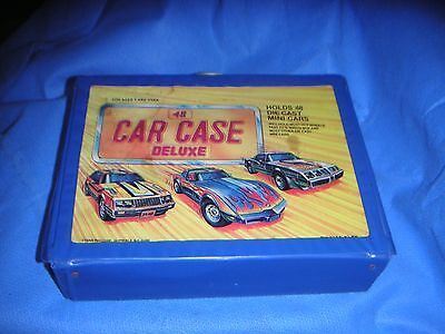 1990's TARA Toy 48 CAR CASE DELUXE w 4 Trays  for Hot Wheels Fast 111 Match Box
