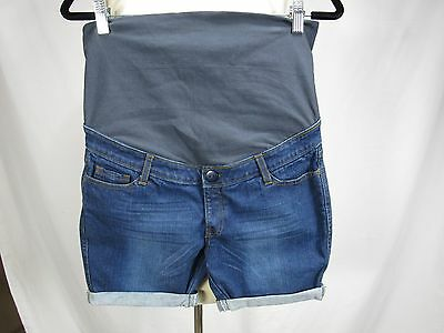 "NEW Maternity Shorts Denim Jean Women's NWOT 32"" waist 4.5"" inseam medium M"