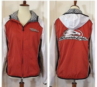 rare Harley Davidson Screaming Eagle Racing Jacket Hoodie Performance Size Med