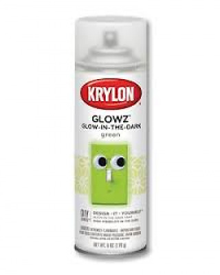 Krylon Glowz - Glow in the Dark Paint Aerosol Green - AUS seller